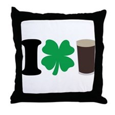 I Love Guiness Throw Pillow