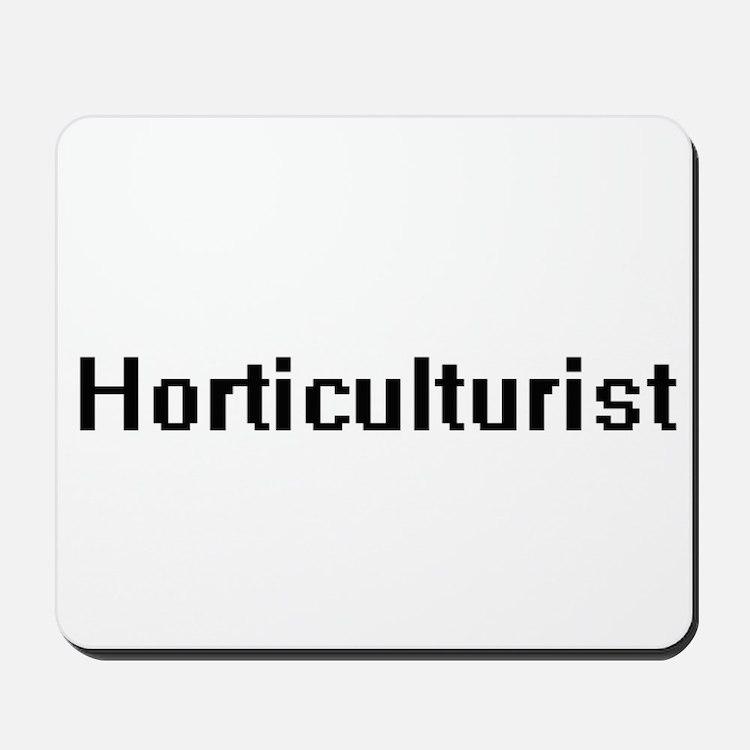 Horticulturist Retro Digital Job Design Mousepad