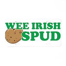 Wee Irish Spud Aluminum License Plate
