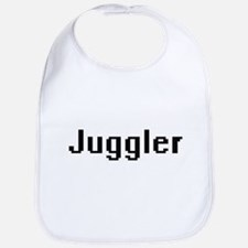 Juggler Retro Digital Job Design Bib