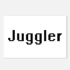 Juggler Retro Digital Job Postcards (Package of 8)