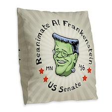 Reanimate Al Frankenstein Burlap Throw Pillow