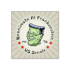 """Reanimate Al Frankenstein Square Sticker 3"""" x 3"""""""