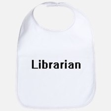 Librarian Retro Digital Job Design Bib