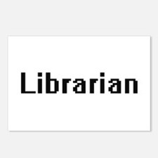 Librarian Retro Digital J Postcards (Package of 8)