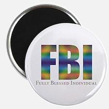 "Tiedye FBI 2.25"" Magnet (10 pack)"