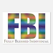 Tiedye FBI Postcards (Package of 8)