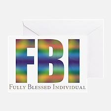 Tiedye FBI Greeting Card