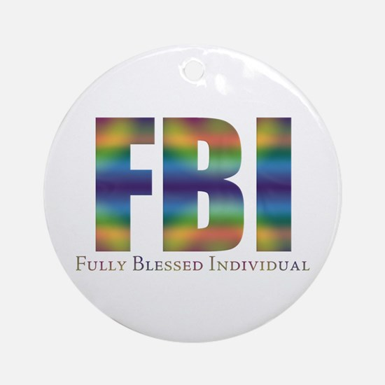 Tiedye FBI Ornament (Round)
