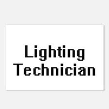 Lighting Technician Retro Postcards (Package of 8)
