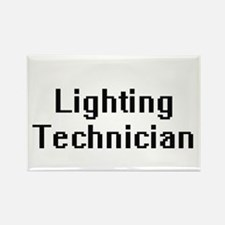 Lighting Technician Retro Digital Job Desi Magnets