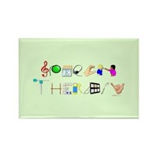 Cute Speech therapy Rectangle Magnet (10 pack)