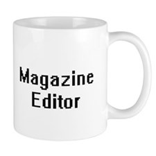 Magazine Editor Retro Digital Job Design Mugs