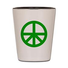 Peace On Earth Logo Shot Glass