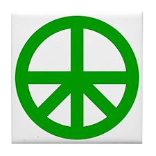 Peace On Earth Logo Tile Coaster
