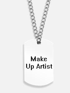 Make Up Artist Retro Digital Job Design Dog Tags