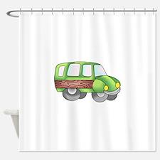 WOODY SUV VEHICLE Shower Curtain