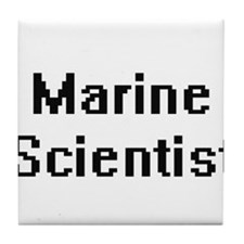 Marine Scientist Retro Digital Job De Tile Coaster