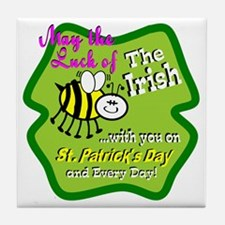 Luck Bee With You Tile Coaster