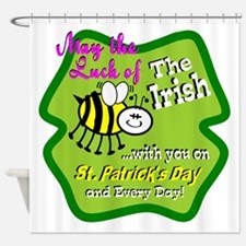 Luck Bee With You Shower Curtain