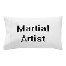 Martial Artist Retro Digital Job Desig Pillow Case