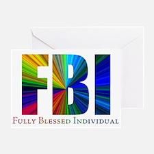Rainbow FBI Greeting Card