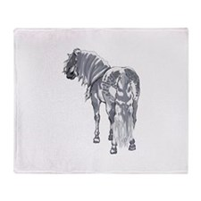 PERCHERON DRAFT HORSE Throw Blanket