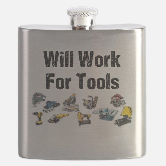 Will Work For Tools Flask