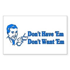 Don't Want Children Rectangle Decal