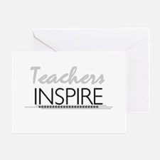 Teachers Inspire Greeting Card
