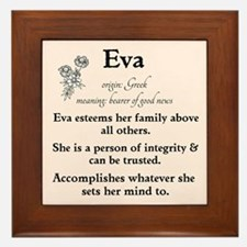 Eva Name Meaning Framed Tile