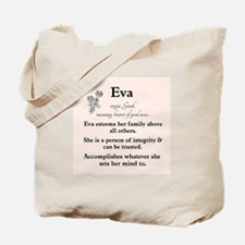 Eva Name Meaning Tote Bag