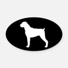 Boxer Dog Oval Car Magnet