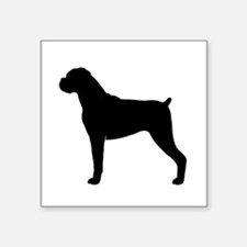 """Boxer Dog Square Sticker 3"""" x 3"""""""