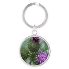 Flowering Tagalongs2 Round Keychain