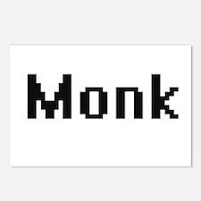 Monk Retro Digital Job De Postcards (Package of 8)