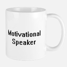 Motivational Speaker Retro Digital Job Design Mugs