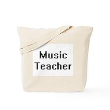 Music Teacher Retro Digital Job Design Tote Bag
