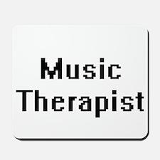 Music Therapist Retro Digital Job Design Mousepad