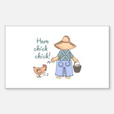 Here Chick Chick! Decal