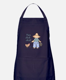 Here Chick Chick! Apron (dark)
