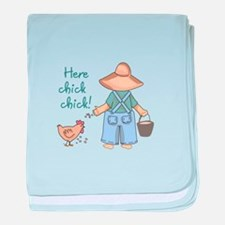 Here Chick Chick! baby blanket