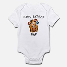 Happy Birthday Philip (tiger) Infant Bodysuit