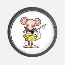 MOUSE WITH CHEESE Wall Clock