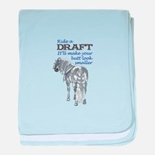 RIDE A DRAFT baby blanket