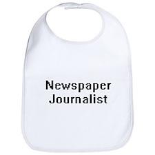 Newspaper Journalist Retro Digital Job Design Bib