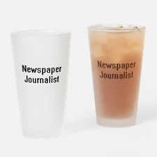 Newspaper Journalist Retro Digital Drinking Glass