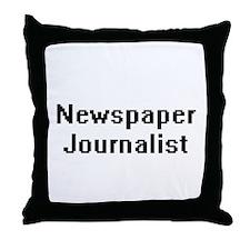 Newspaper Journalist Retro Digital Jo Throw Pillow