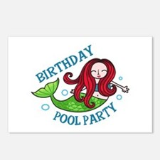 Birthday Pool Party Postcards (Package of 8)