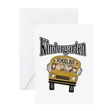 School Bus Kindergarten Greeting Card